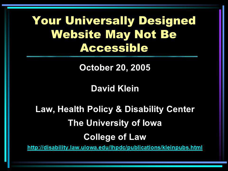 Resources – Books Paciello, Michael.(2000). Web Accessibility for People with Disabilities.