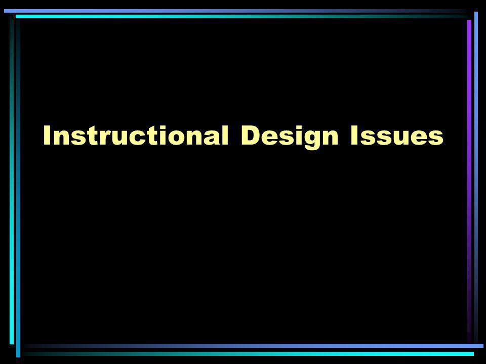 Instructional Design Issues