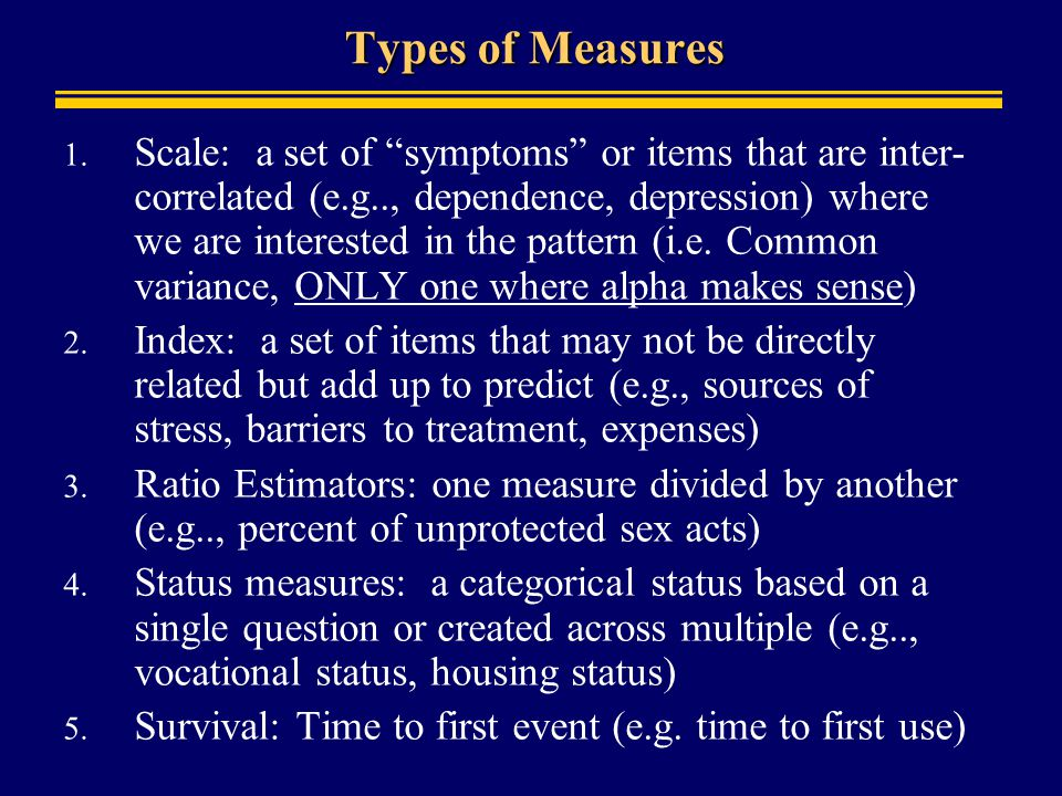 Types of Measures 1.
