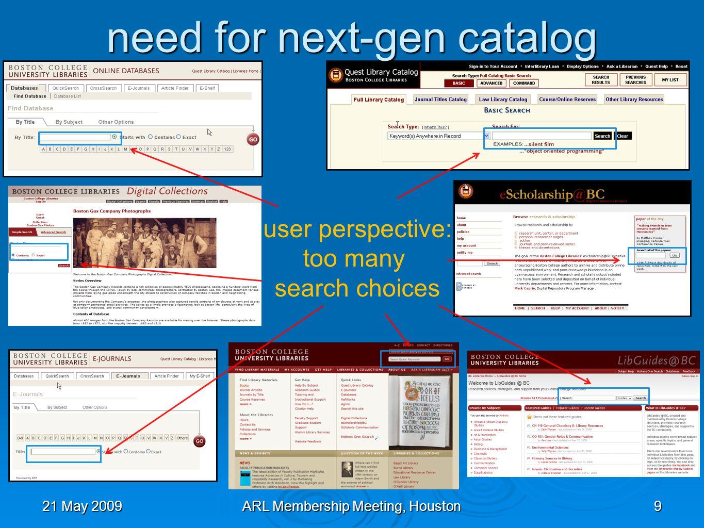 21 May 2009ARL Membership Meeting, Houston30 usage stats: trends 93% Jan 1 2009 – May 10 2998