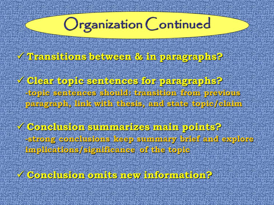 Transitions between & in paragraphs. Transitions between & in paragraphs.