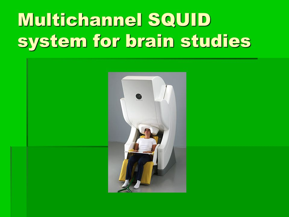 Multichannel SQUID system for brain studies