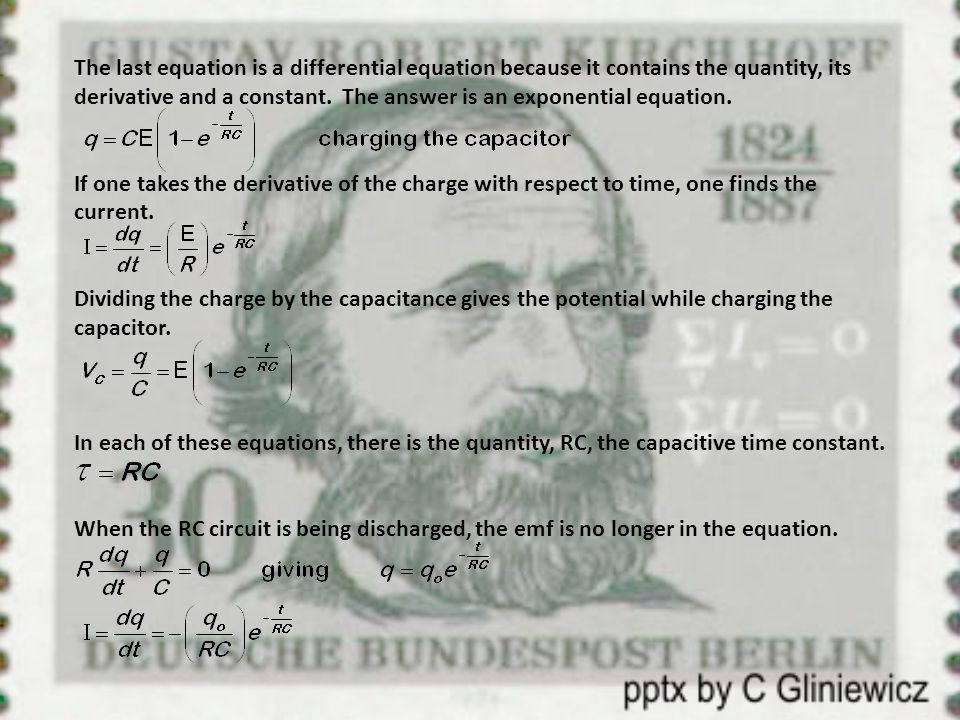 The last equation is a differential equation because it contains the quantity, its derivative and a constant.