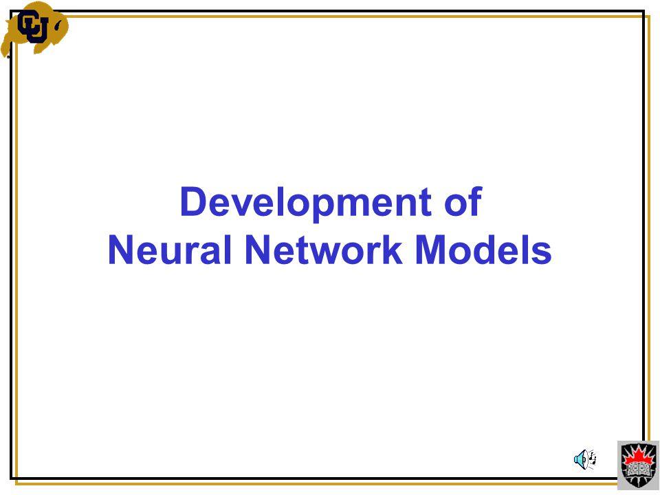 Development of Neural Network Models