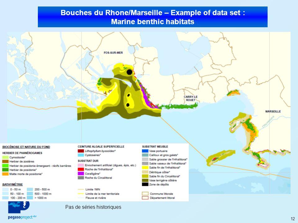 12 Bouches du Rhone/Marseille – Example of data set : Marine benthic habitats Pas de séries historiques
