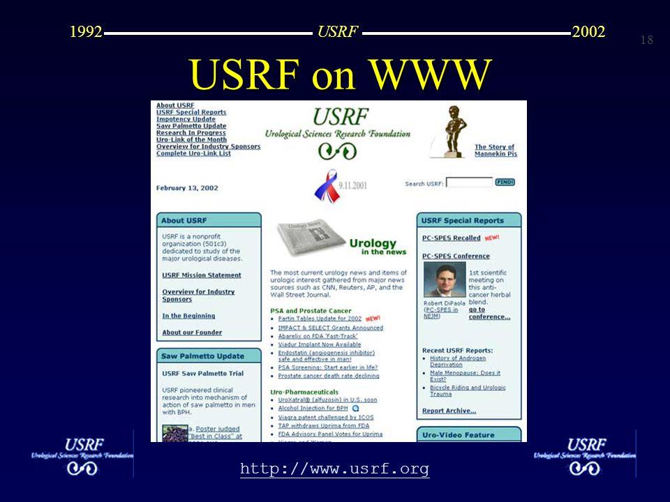 18 http://www.usrf.org USRF20021992 USRF on WWW