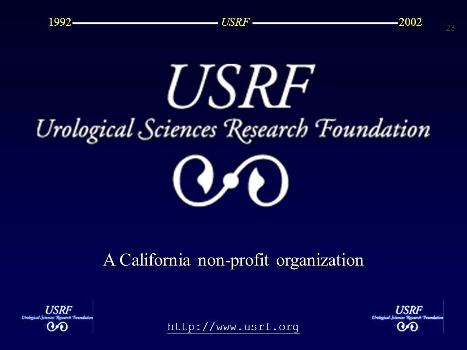 23 http://www.usrf.org USRF20021992 A California non-profit organization