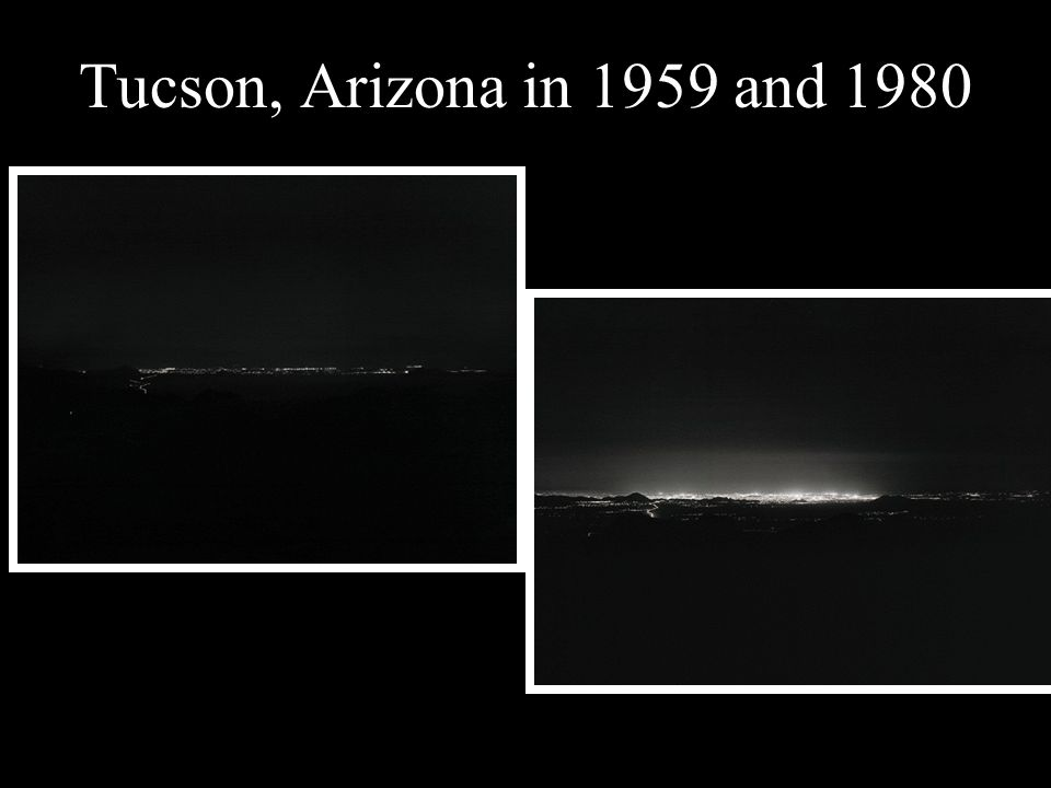 Tucson, Arizona in 1959 and 1980