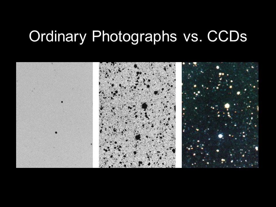 Ordinary Photographs vs. CCDs