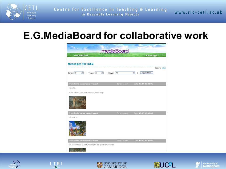 E.G.MediaBoard for collaborative work
