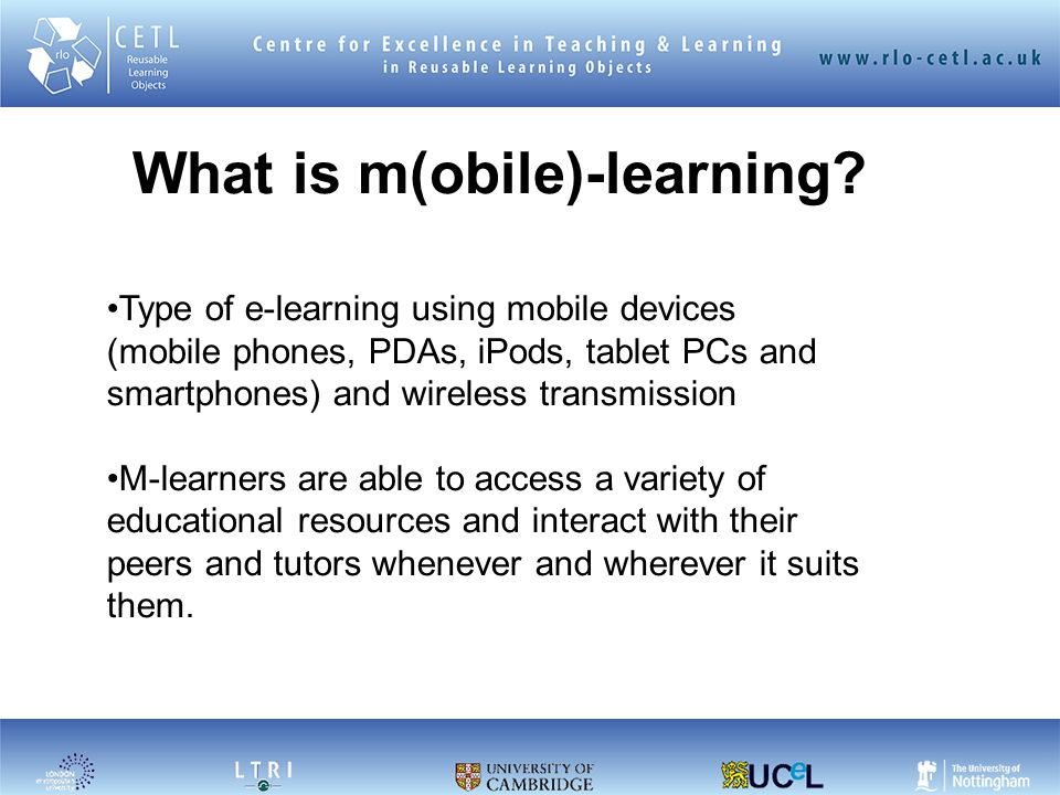 What is m(obile)-learning.