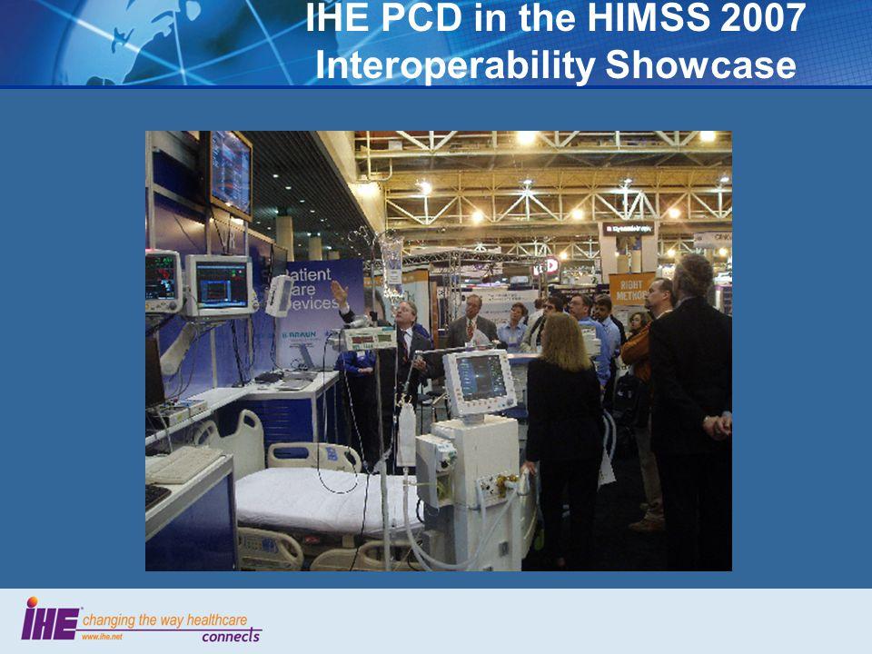 IHE PCD in the HIMSS 2007 Interoperability Showcase