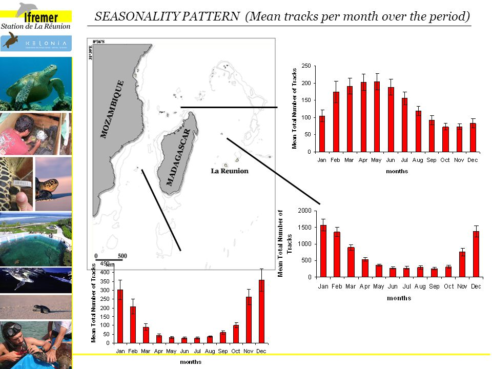 SEASONALITY PATTERN (Mean tracks per month over the period)