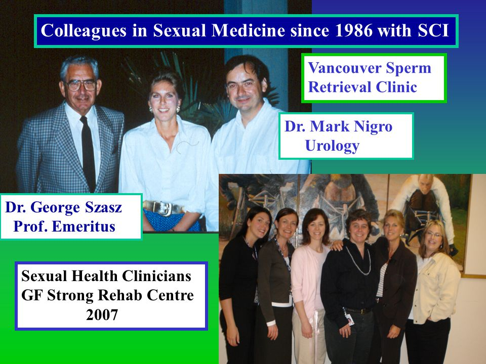 Dr. Mark Nigro Urology Colleagues in Sexual Medicine since 1986 with SCI Dr.