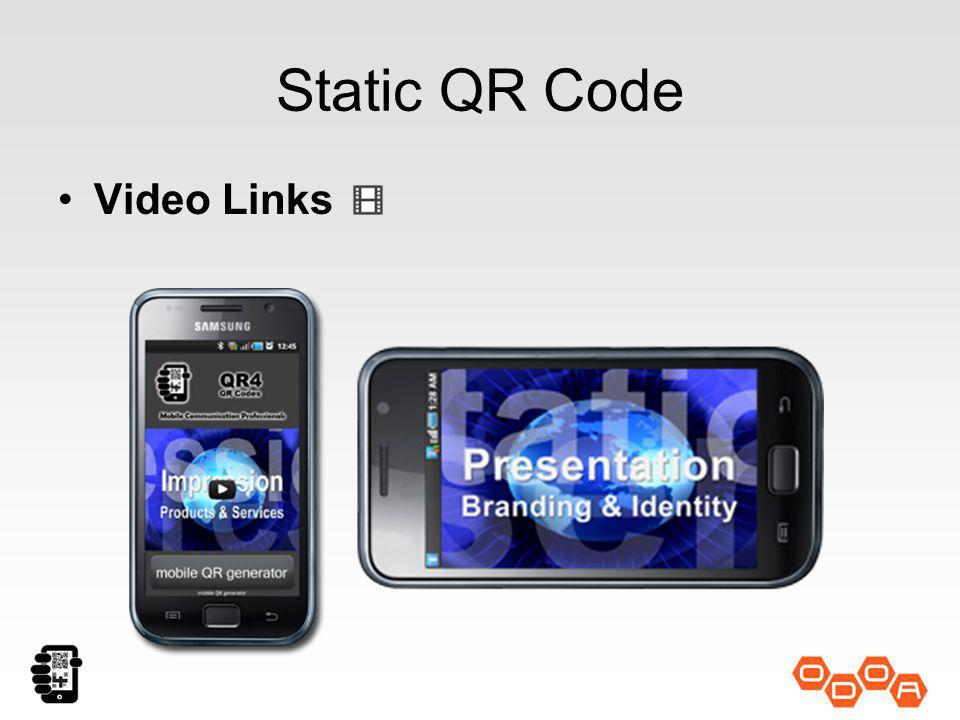 Static QR Code Video Links