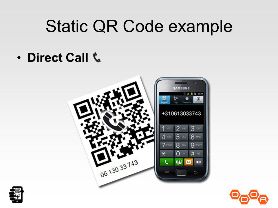 Static QR Code Example SMS Text Message
