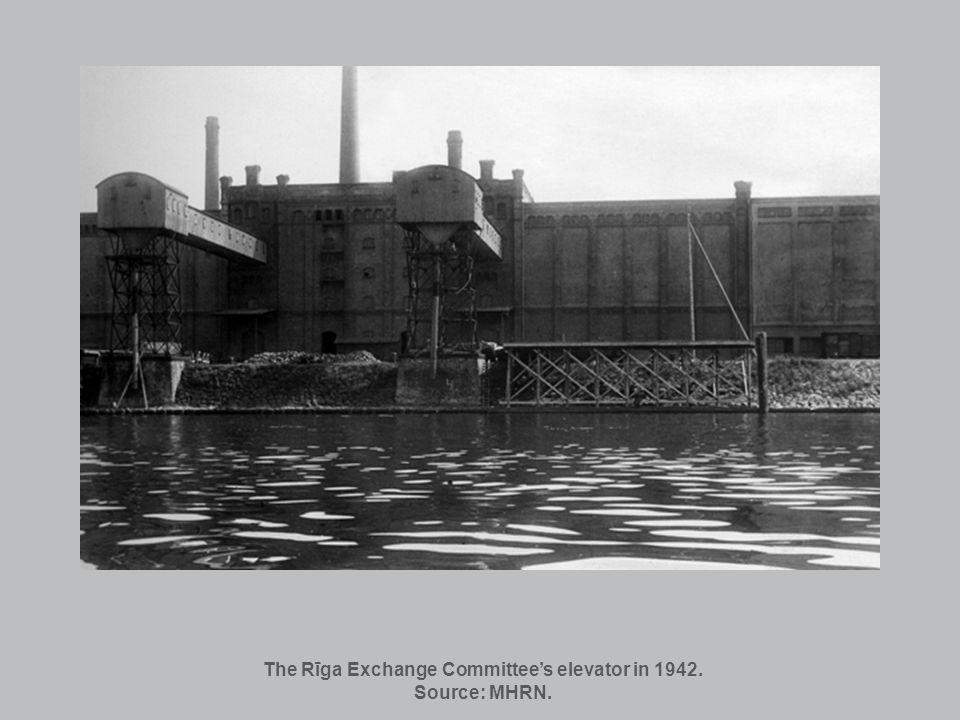 The Rīga Exchange Committees elevator in 1942. Source: MHRN.