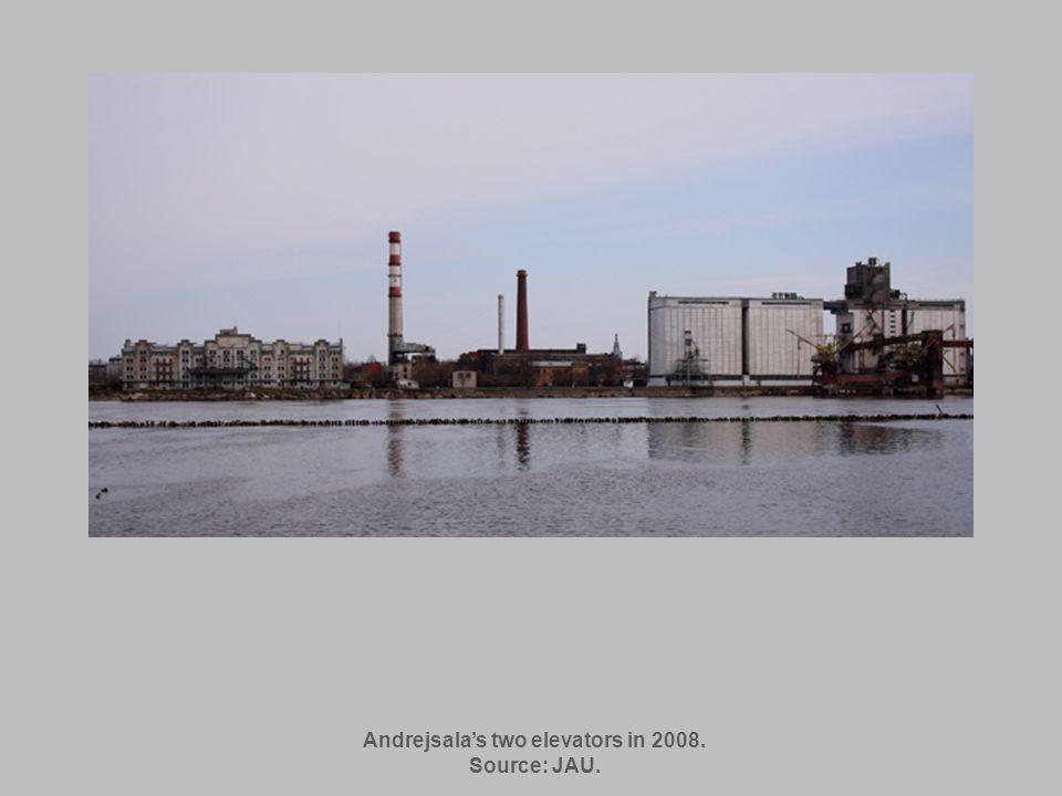 Andrejsalas two elevators in 2008. Source: JAU.