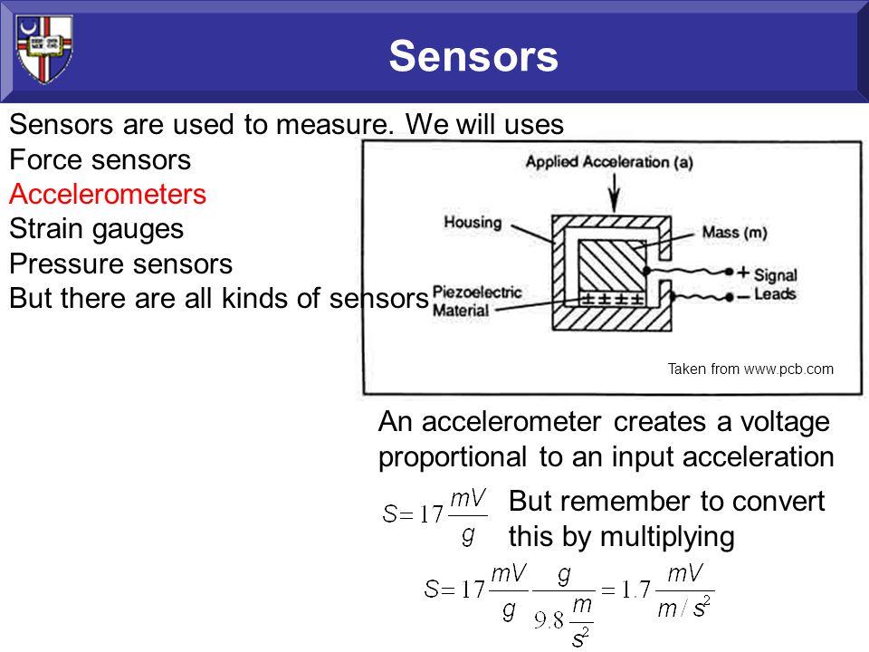 Sensors Sensors are used to measure.
