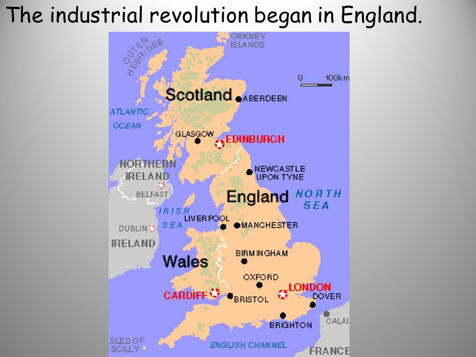 Why did the industrial revolution begin in England?