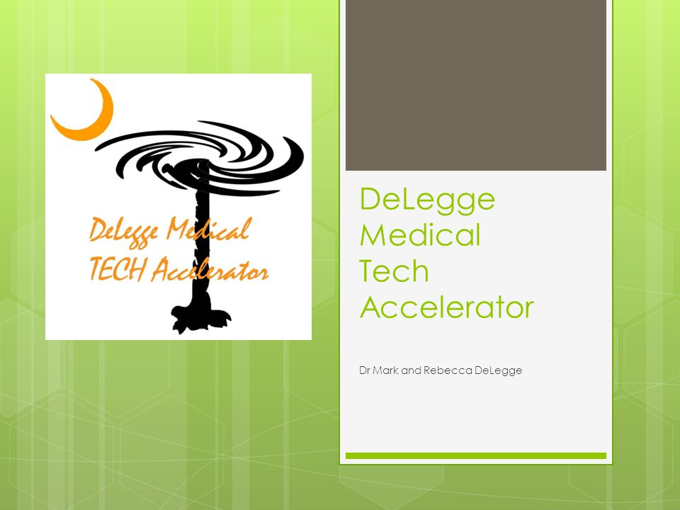 Technology Acceleration Technology acceleration is the sequential movement of a medical device or idea from the cocktail napkin to the patient.