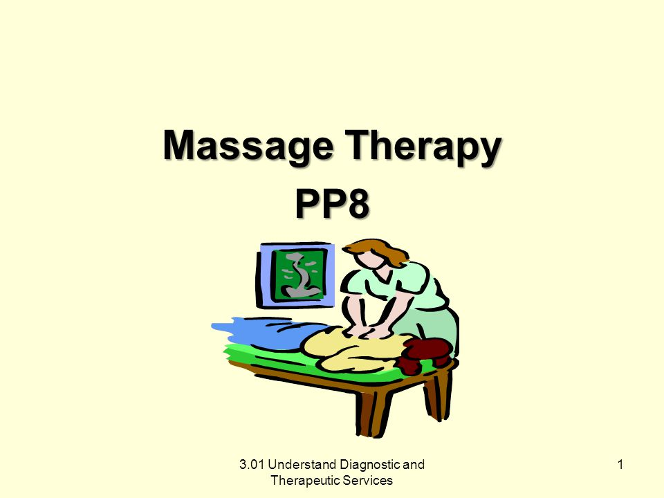 Massage therapists manipulate muscle and connective tissue to enhance function of tissues and promote relaxation and well-being.