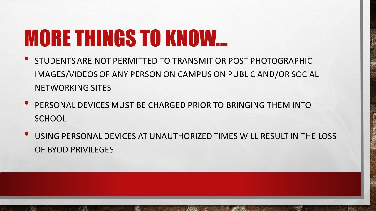 TEACHERS ROLE TEACHERS WILL NOT SPEND TIME FIXING TECHNICAL DIFFICULTIES WITH STUDENTS PERSONAL DEVICES THE USE OF THESE STUDENT PERSONAL DEVICES IS STRICTLY UP TO THE TEACHER.