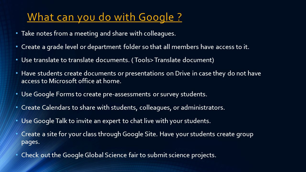 Session Agenda What is Google Docs and Drive.