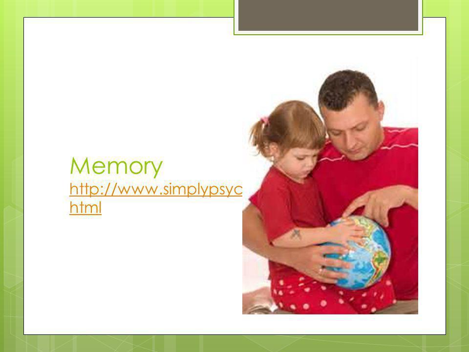 Memory http://www.simplypsychology.org/memory. html http://www.simplypsychology.org/memory. html