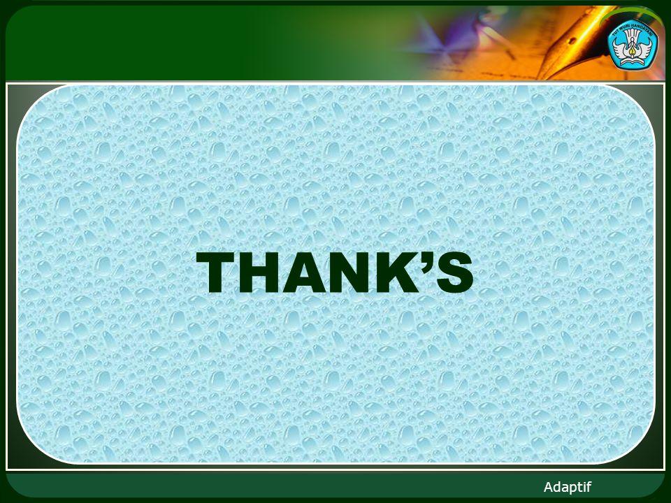 Adaptif THANKS
