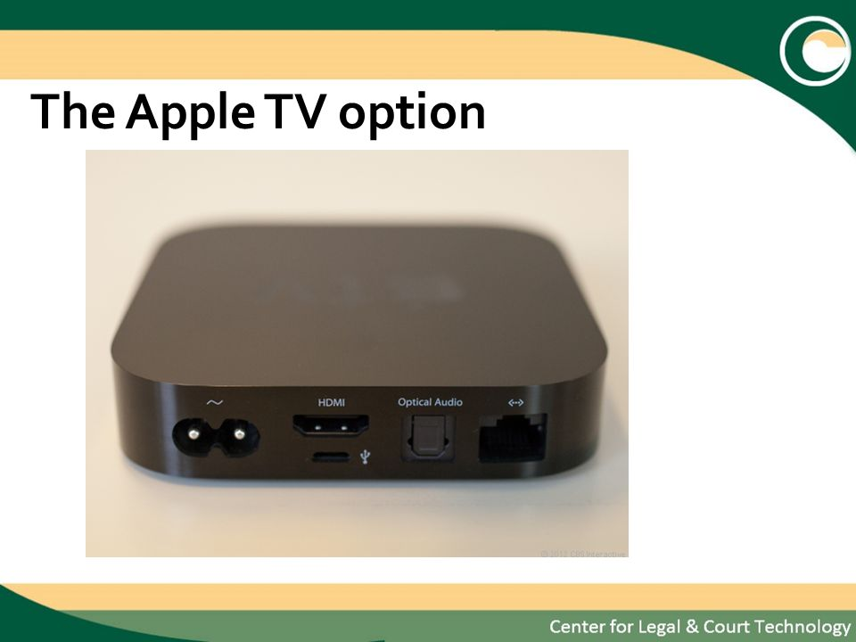 The Apple TV option