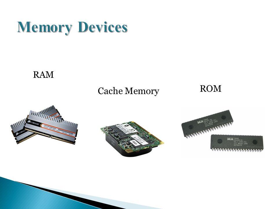 RAM ROM Cache Memory