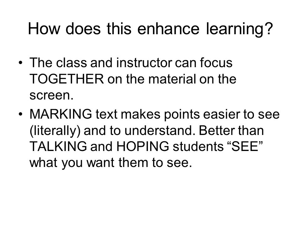 How does this enhance learning.