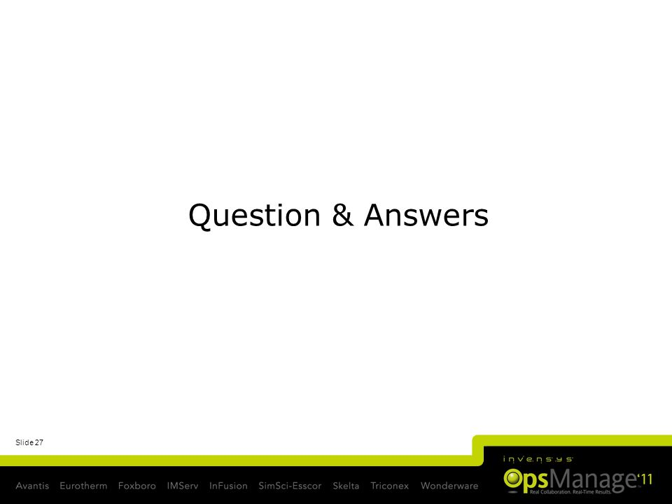 Slide 27 Question & Answers