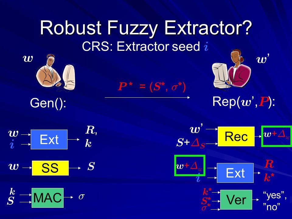 w+¢ww+¢w w+¢ww+¢w Robust Fuzzy Extractor.