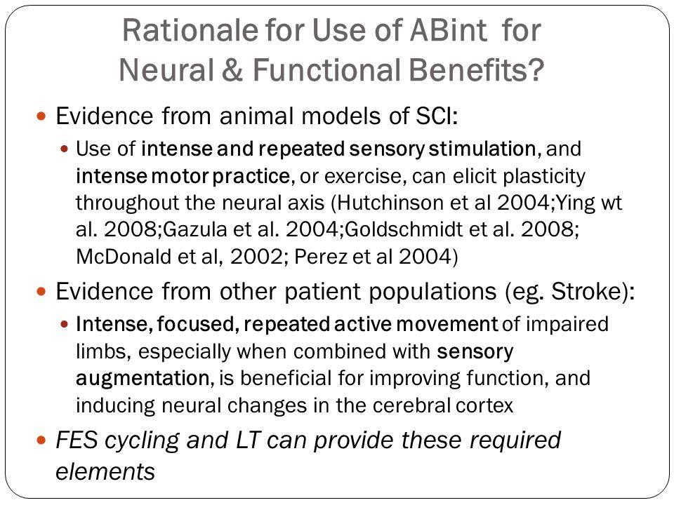 Summary: Participant Characteristics nAIS ClassificationLevelAcute/ChronicSexAge ABC /DTetraParaAcuteChronicMF Arnold et al.