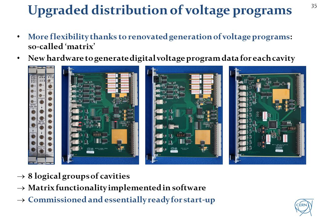 35 More flexibility thanks to renovated generation of voltage programs: so-called matrix New hardware to generate digital voltage program data for eac