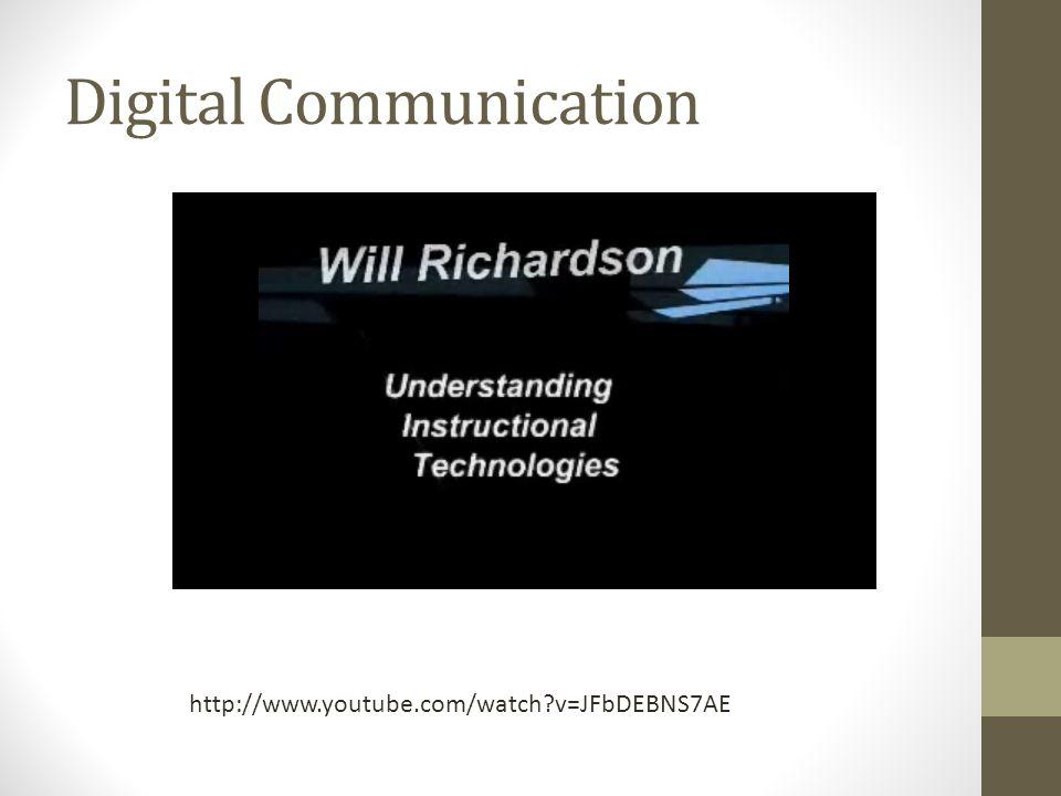 Digital Communication http://www.youtube.com/watch v=JFbDEBNS7AE
