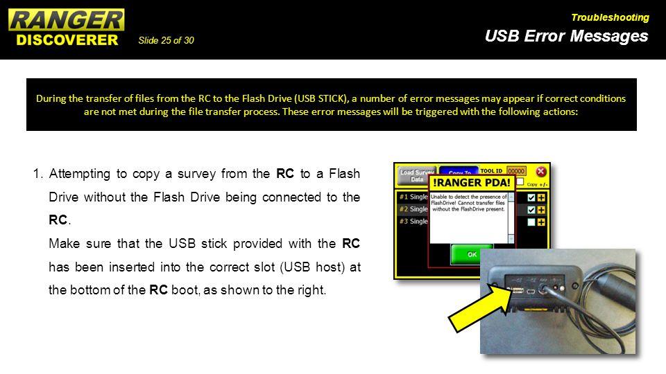 Slide 25 of 30 USB Error Messages Troubleshooting 1.