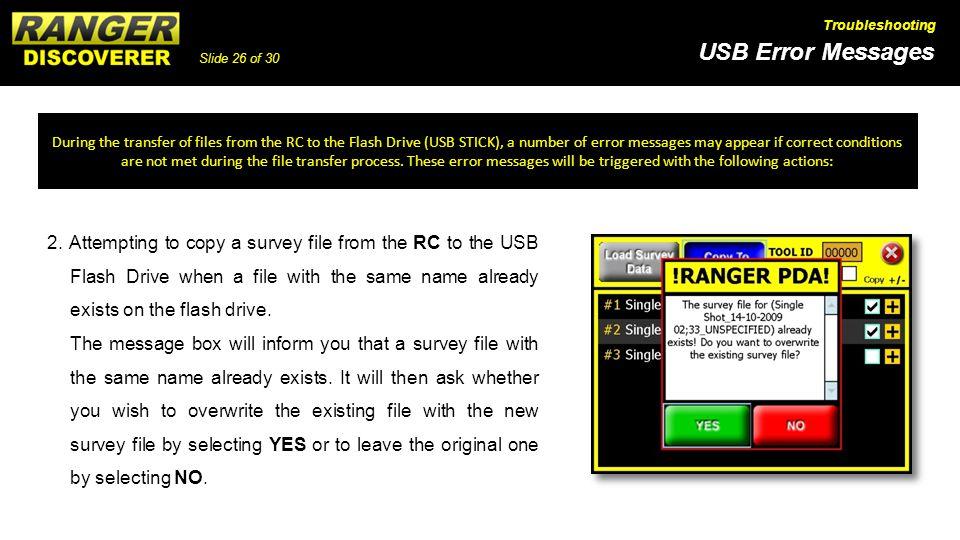 Slide 26 of 30 USB Error Messages Troubleshooting 2.