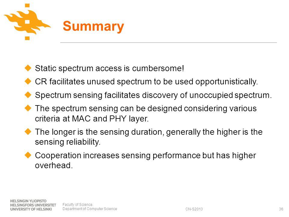 CN-S2013 Static spectrum access is cumbersome.
