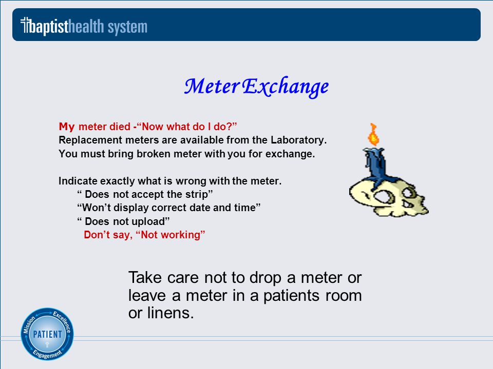 Meter Exchange My meter died -Now what do I do.