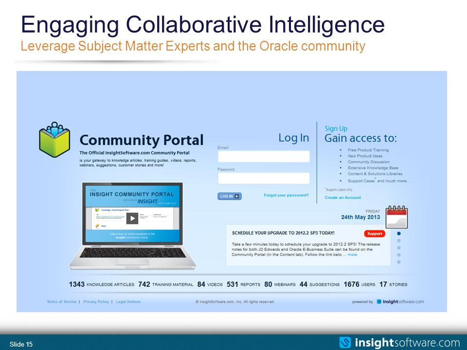 Slide 15 Engaging Collaborative Intelligence Leverage Subject Matter Experts and the Oracle community