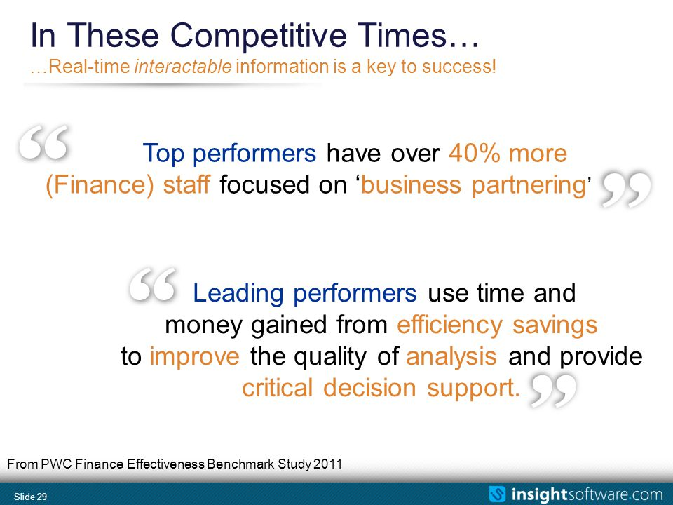 Slide 29 In These Competitive Times… …Real-time interactable information is a key to success.