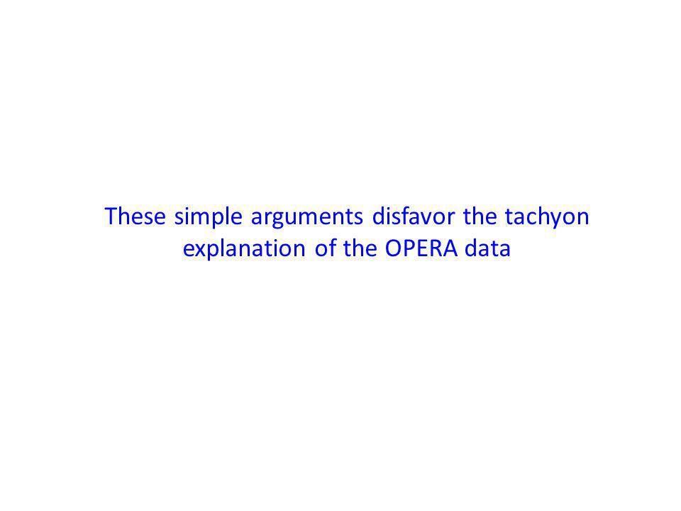 These simple arguments disfavor the tachyon explanation of the OPERA data