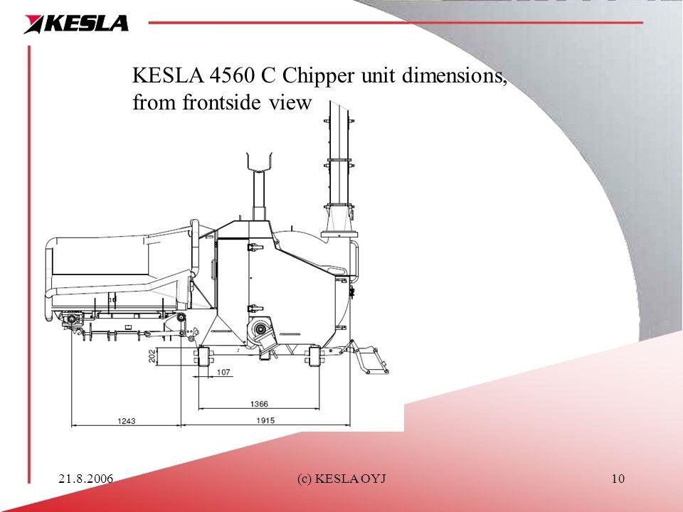 21.8.2006(c) KESLA OYJ10 KESLA 4560 C Chipper unit dimensions, from frontside view