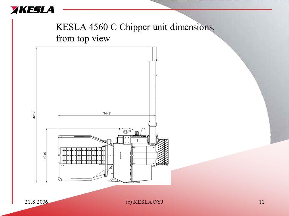 21.8.2006(c) KESLA OYJ11 KESLA 4560 C Chipper unit dimensions, from top view