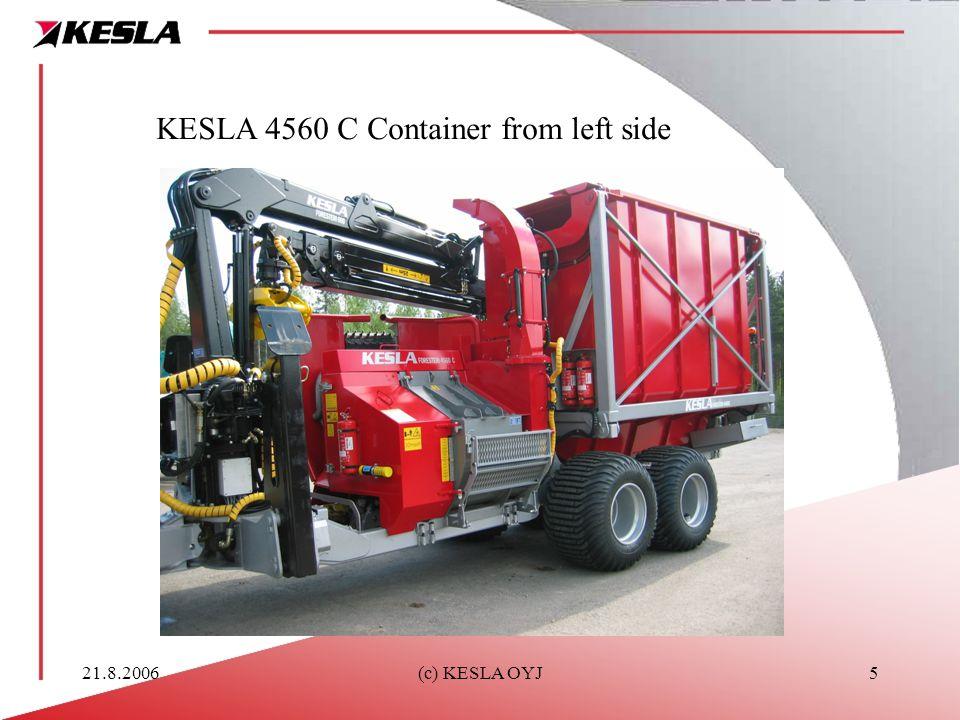 21.8.2006(c) KESLA OYJ5 KESLA 4560 C Container from left side