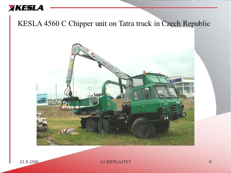 21.8.2006(c) KESLA OYJ8 KESLA 4560 C Chipper unit on Tatra truck in Czech Republic