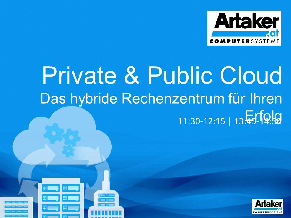 Private & Public Cloud Das hybride Rechenzentrum für Ihren Erfolg 11:30-12:15 | 13:45-14:30